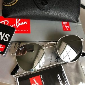 Brand New Authentic Ray-Ban RB3447 Round Metal